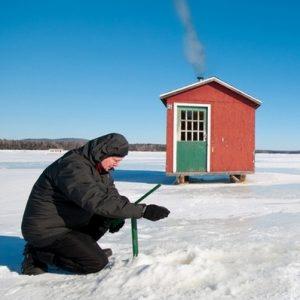 Pêche sur glace au Canada